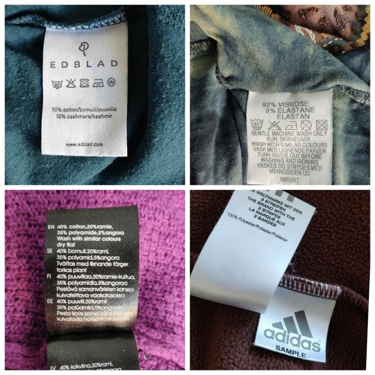 etiketter i kläder